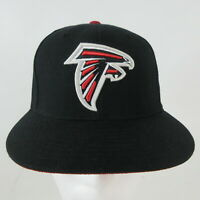 Mitchell & Ness NFL Atlanta Falcons Black Hat Cap Fitted Size 7 Logo Red White