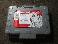 New! Craftsman 11-Piece 1/4-in Drive Metric 6pt Socket Wrench Set Includes Case