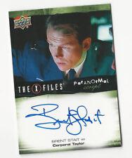 Brent Stait The X Files Ufos & Aliens Paranormal Script Autograph Card Auto