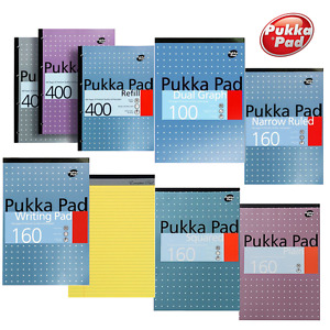 A4 A5 Ruled Lined Squared Plain Graph Paper Note Pad Legal Refill Book w/ Margin