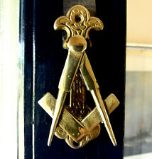 Masonic. Master Mason. Antique. Solid Brass. Door Knocker. Original Foundry Mark
