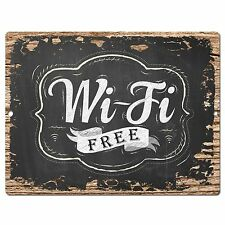 PP0397 Rust Free Wi-Fi Sign Store Bar Cafe Restaurant Home Wall Interior Decor