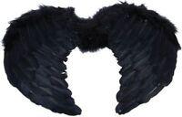MINI BLACK FEATHER WINGS (HALLOWEEN , ANIMALS FANCY DRESS)