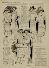 1920's FASHION FROCKS & EVENING DRESSES PLUS GOWNS- 3 PAGES - #N050