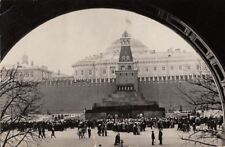 Postcard Rppc Red Square The Lenin Mausoleum Moscow Russia