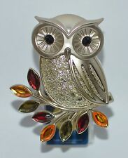 BATH & BODY WORKS SHINING OWL GLITTER LEAF NIGHTLIGHT WALLFLOWER PLUG IN HOLDER