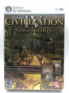 Civilization IV 4 Gold Edition PC CD Brand New Sealed Free Shipping Sid Meiers