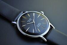NOS! Poljot De LUXE Extra SLIM Watch Men's Vintage USSR RUS Case St.Steel R.