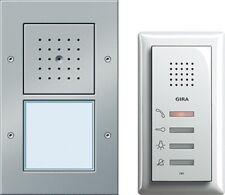 Gira 049543 Einfamilienhaus-Paket Audio-Set Sprechanlage für Einfamilienhaus alu
