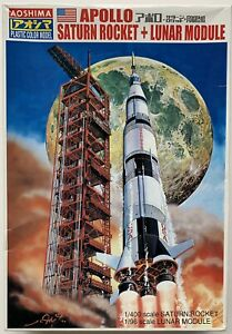 Aoshima Apollo Saturn Rocket & Lunar Module Model Japan 47484 Open Box Unbuilt