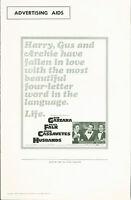 Husbands (1970)  Ben Gazzara, Peter Falk, John Cassavetes  pressbook