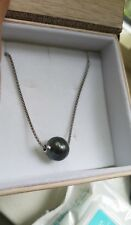 tahitian south sea natural 11mm pearl pendant