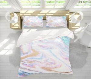 3D Purple Pink ZHUB2401 Bed Pillowcases Quilt Duvet Cover Queen King Zoe