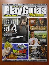 Guía Resident Evil 4 + Tomb Raider Legend, DBZ Budokai Tenkaichi, PES 6 PS2 XBOX