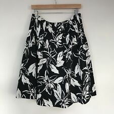 Lafayette 148 New York Womens Skirt, Size 10P, Floral Pleated Cotton