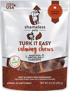 SHAMELESS PETS Turk It EasyDog Calming Chews | 9.5 Ounce