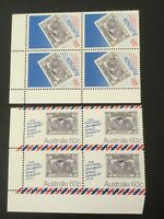 Australian 50th ANNIVERSARY OF THE 1st OFFICIAL AIRMAIL Crn Block 4 MUH SUPERB