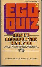 EGO-QUIZ #2 ~ SIGNET Q6324 1975 1ST ~ HARRY CARGAS RICHARD NICKESON PERSONALITY