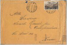 71992  - AOI  ERITREA  - Storia Postale - BUSTA da ADI QUALA a Roma  1936