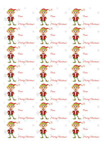 Christmas elf to and from stickers 21 to a page