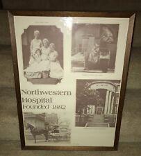 Rare Framed Vintage NORTHWESTERN HOSPITAL Minneapolis MN Poster