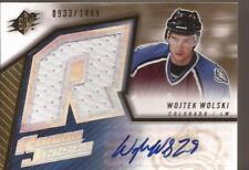 WOLTEK WOLSKI 2005-06 SPx Autograph Rookie Jersey #933/1499 Colorado Avalanche