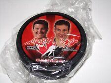 2002 Team Canada McDonald's Olympic Hockey Puck Mario Lemieux/Scott Niedermayer