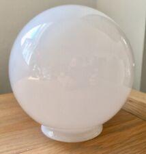 Vintage Globe Art Deco White Glass Light Shade