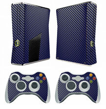 Blue Carbon Fiber Decal Skin Sticker for Xbox360 slim and 2 controller skins
