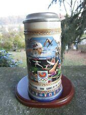 "Vintage Ceramic 1988 Anheuser-Busch Beer Mug- Stein- Seoul Olympics ~ 8.5"" Tall"