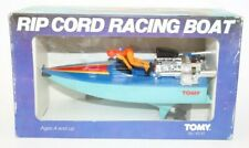 VINTAGE - TOMY TOYS - 1982 - RIP CORD - BLUE RACING BOAT -