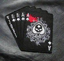 DEAD MAN'S HAND ACES OUT LAW MC IRON BIKER PATCH