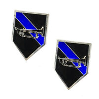 Thin Blue Line Bugle for Honor Guard and Taps Police Sheriff Lapel Pin
