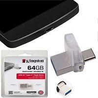 OTG TYP C-USB-Stecker 64GB Speicher Extern STICK Für Samsung Galaxy S8 Plus