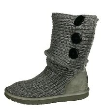 UGG Australia 5819 Women's Cardy Gray Knit Sweater Boots Size 9 US/40 EU
