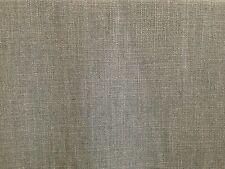 CLARKE & CLARKE HENLEY FLANNEL GREY LINEN COTTON PLAIN CURTAIN UPHOLSTERY FABRIC