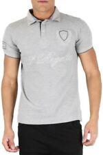 Camicie casual e maglie da uomo grigie in cotone elasticizzato