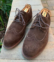 Sperry Top-Sider Mens Gold Cup Wingtip Oxford Shoes Brown Suede Leather 10M