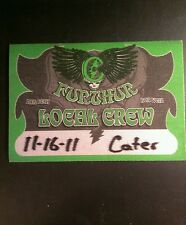 Furthur BackStage Pass 11/16/2011 Chicago Green While Supplies Last!