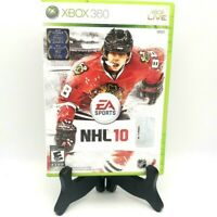 EA Sports NHL 10 Microsoft Xbox 360 Complete Game Case Manual Very Good