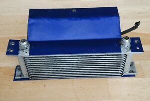 Mocal 13 row 235mm wide oil cooler with twin electric fans, good condition