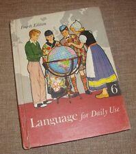 Language For Daily Use 6 6th Fourth Edition Vintage Book 1959 Dawson Homeschool