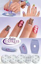 Nail Art Stamping Polish DIY Design Decoration Tool Kit Set Salon Express