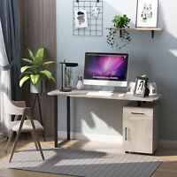 HOMCOM Computer Desk with Drawer Storage Cabinet Home Office Workstation