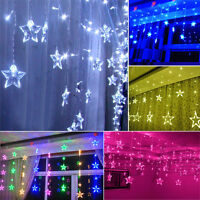 2017Flash Five-pointed Stars LED String Curtain Light Christmas Party Decoration