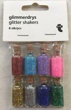 Pack Of 8 x Mini Cork Bottle Glitter Shakers.