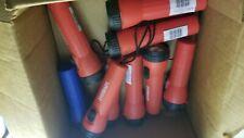 Eveready LED Flashlight lot (7 red double battery)(1 blue single battery)