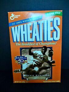 Wheaties Cereal Box Jackie Robinson 50 Years 1947-1999 ~ Flat