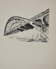 Robert DELAUNAY - lithographie originale - Paris, le pont aérien