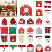 Christmas Chair Cover Santa Claus Dining Chair Back Cover Xmas Table Art Decor